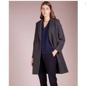J Crew women's wool coat with warm lining